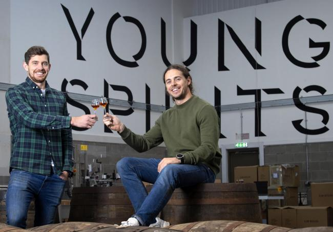 John Ferguson and Alex Harrison launched their Young Spirits bottling business last year