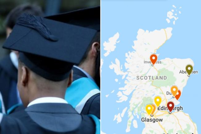 Staggering costs of student living in Scotland revealed as map shows most expensive places to live