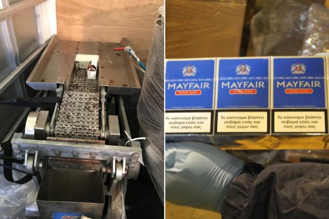 Three charged after more than four million illicit cigarettes found in Glasgow warehouse