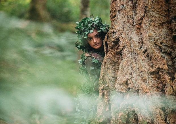 HeraldScotland: Huck Whittle as the mysterious forest dweller Ghillie Dhu in the new feature film Jessie And The Elf Boy
