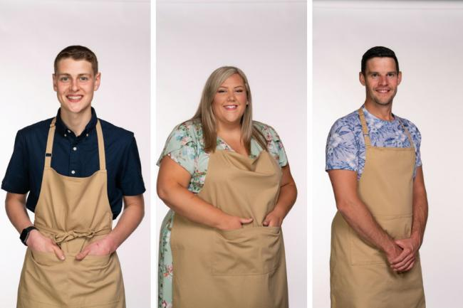 GBBO finalists 2020 Peter Sawkins, Laura Adlington, and Dave Friday