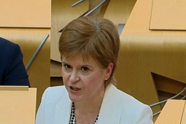 Sturgeon fury at 'deplorable' international aid cut