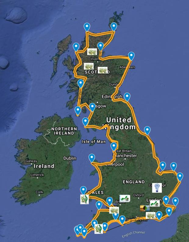 HeraldScotland: Click this image to see where the proposed landing places will be around the UK