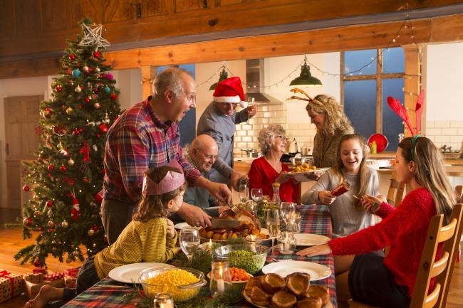 A family enjoying Christmas dinner. Picture: Thinkstock/PA
