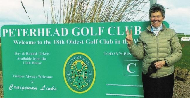 Bold Susie Robertson  came through hell and high water to complete all 556 golf courses in Scots guidebook