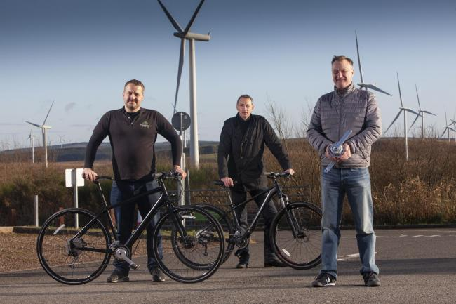 FFT - (LtoR) Neil MacMartin (founder and director) and Andy Pollock (chief engineer) from FreeFlow Technologies and John McNicol (Director) from Kelvin Capital