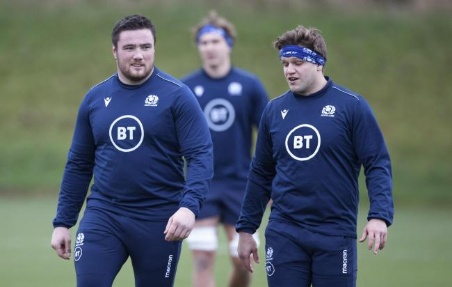 Zander Fagerson (left) with Scotland team-mate George Turner