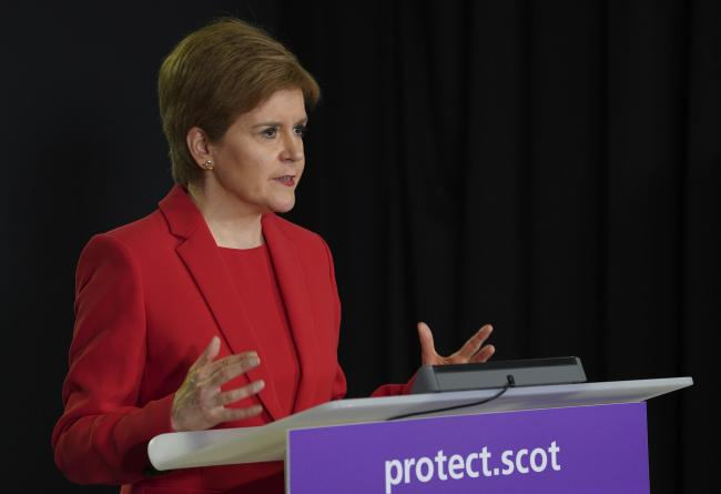 First Minister, Nicola Sturgeon said today was