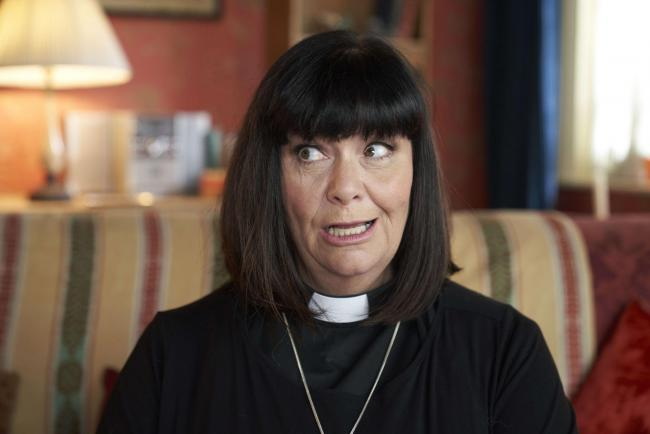 Dawn French as the Reverend Geraldine Granger in The Vicar Of Dibley In Lockdown. Picture: Des Willie/Tiger Aspect Productions/BBC
