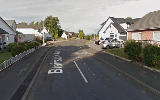 The crash happened on Blairston Avenue, near its junction with Bothwell Road. Pic: Googlemaps.