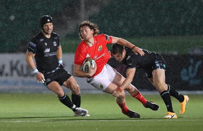 Munster's Ben Healy in action against Glasgow Warriors