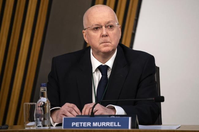 Peter Murrell, Chief Executive, Scottish National Party arrives gives evidence to a Scottish Parliament Harassment committee, at Holyrood in Edinburgh, examining the handling of harassment allegations against former first minister Alex Salmond. PA Photo.