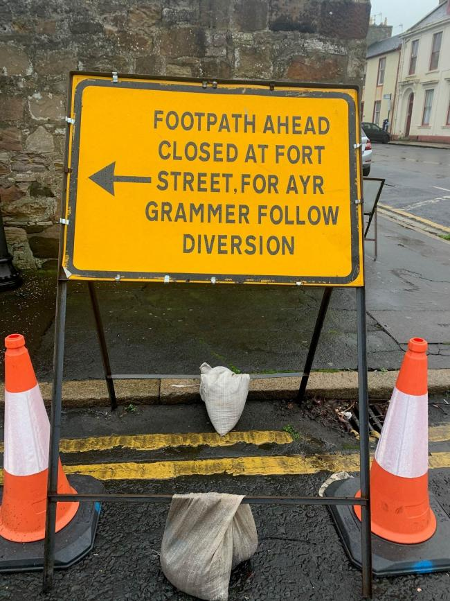Linda Eadie spotted this sign, which guides people to Ayr Grammar School. Clearly the author of the sign would be better off discovering how to find Ayr Spelling School.