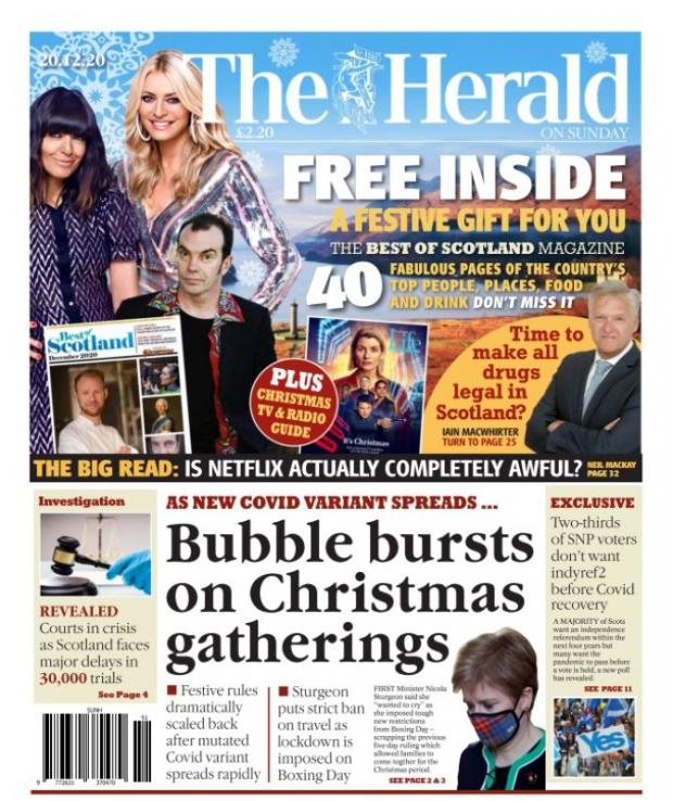 HeraldScotland: The Herald front page