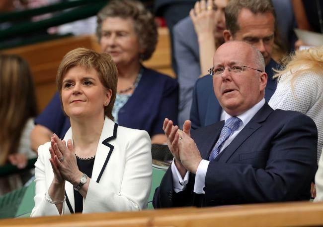Nicola Sturgeon and her husband, SNP chief executive Peter Murrell