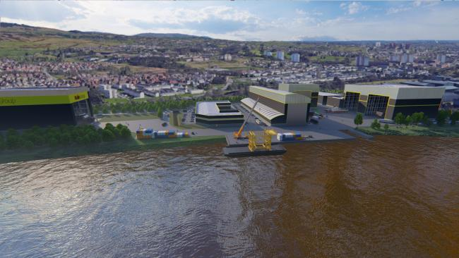 An artist's impression of the Scottish Marine Technology Park