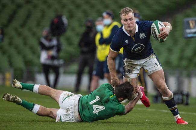 Duhan van der Merwe earned his first Scotland cap last month