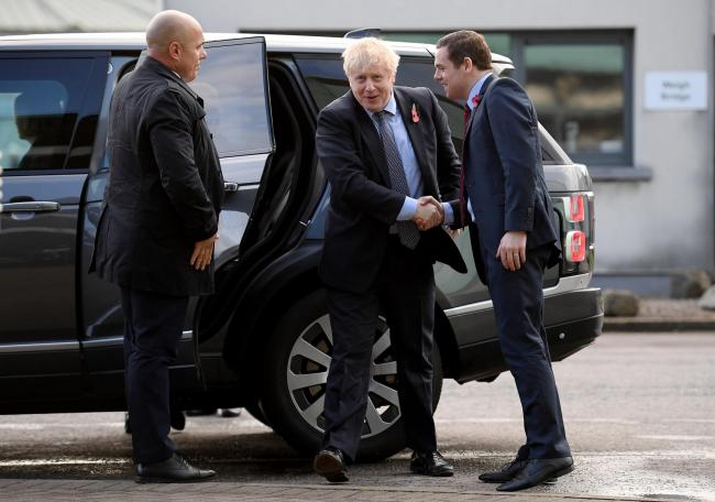 Boris Johnson and Douglas Ross ahead of the 2019 election, in which Brexit was the Tories' key issue  Picture: Daniel Leal-Olivas/ Getty Images