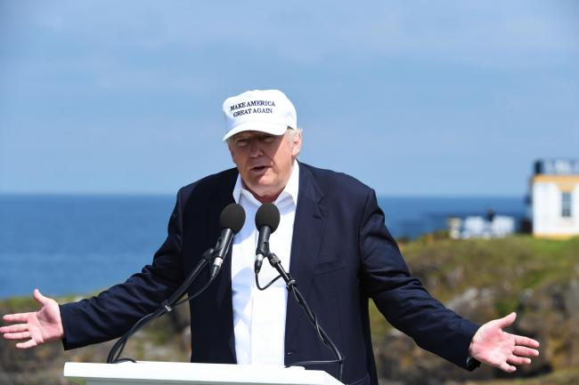 US President Donald Trump at Turnberry