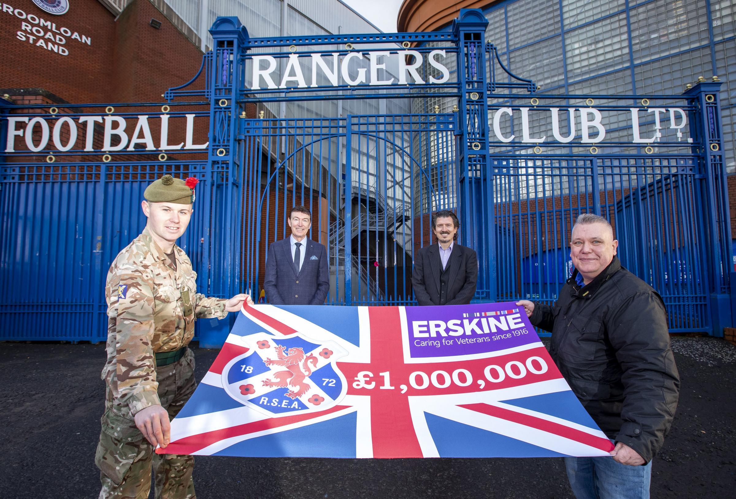 Rangers fans break £1million fundraising target for Erskine Veterans