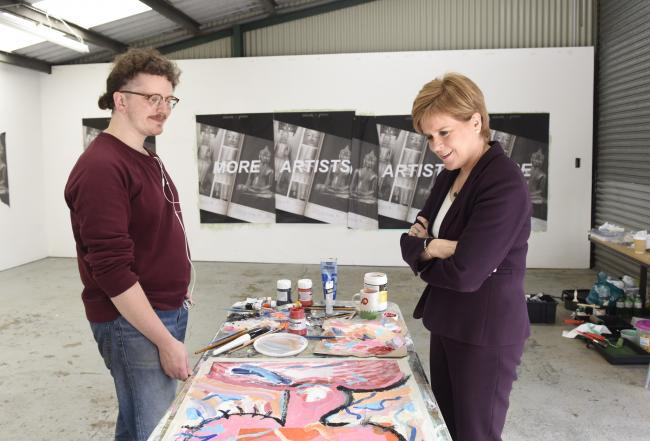 Nicola Sturgeon visit to Studio Pavilion at House for an Art Lover photo by Julie Howden