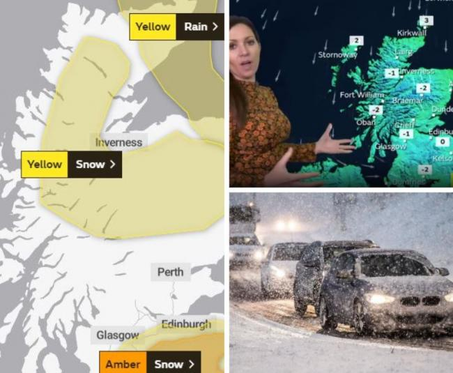 Scotland's weather: Watch latest weather forecast as snow warnings issued for much of country