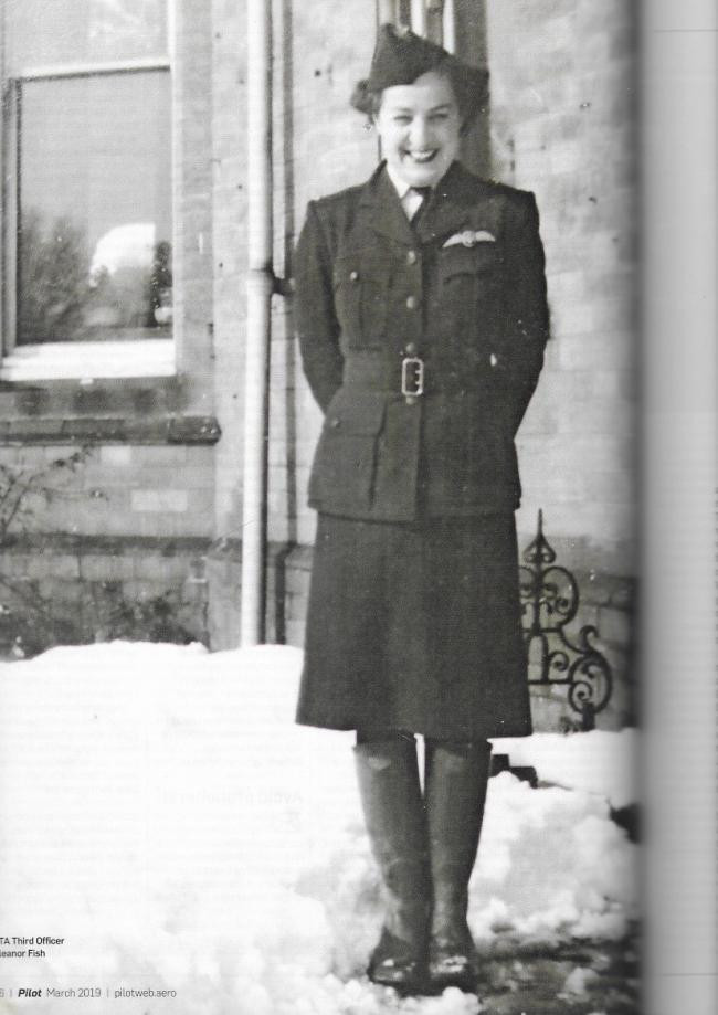 Eleanor Wadsworth during her war-time service