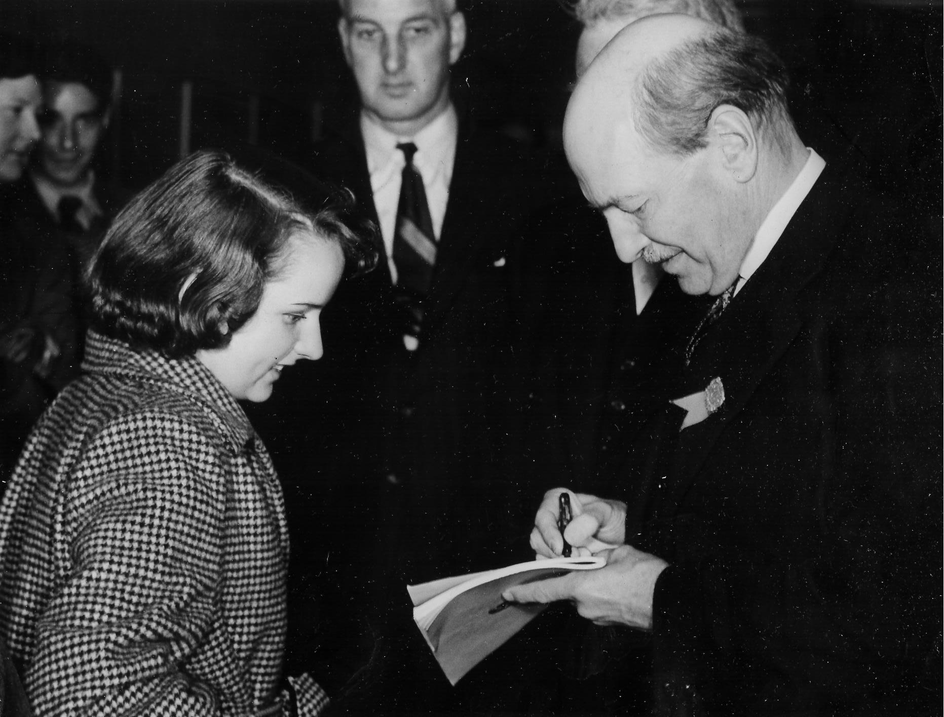 Remember when ..... 1951: Attlee meets a young American fan