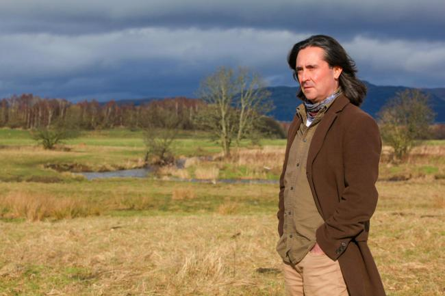 Neil Oliver photographed at The Carse near Stirling. Picture: Steve Cox/The Herald