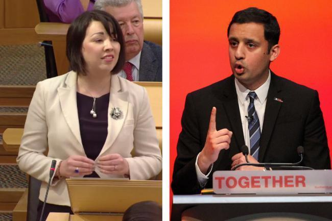 Scottish Labour leadership contenders Monica Lennon and Anas Sarwar