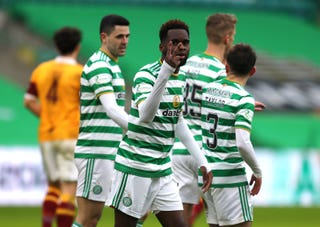 Celtic 2 Motherwell 1: Odsonne Edouard strike secures narrow and nervous win for Neil Lennon's side