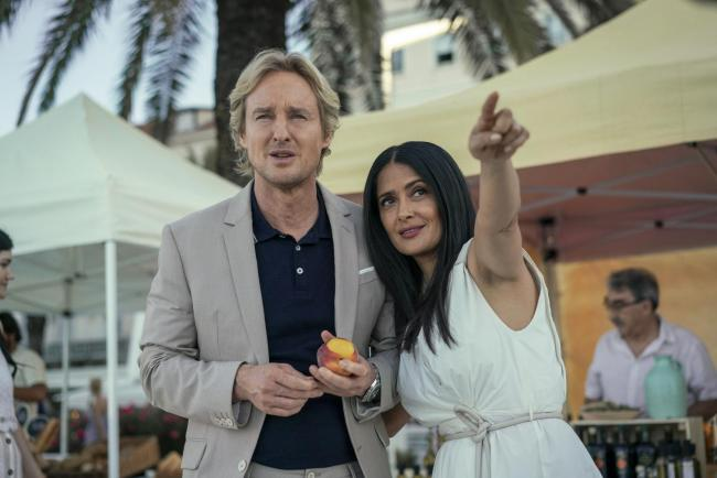 Salma Hayek as Isabel and Owen Wilson as Greg in Bliss