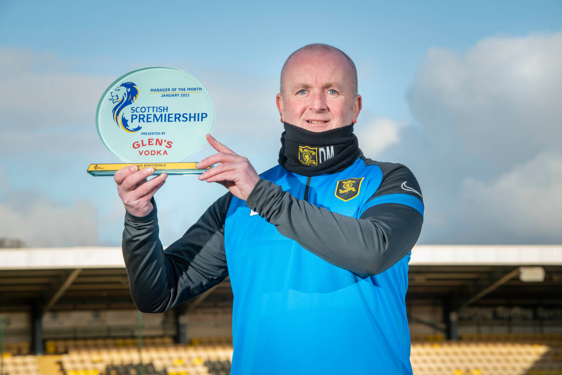 Livingston boss David Martindale named Scottish Premiership manager of the month