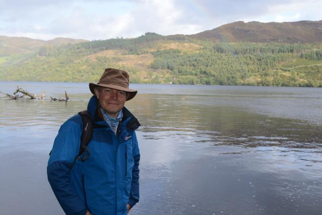 Paul Murton presents Grand Tours of Scotland's Lochs. Picture: Neil McLennan/Tern TV/BBC