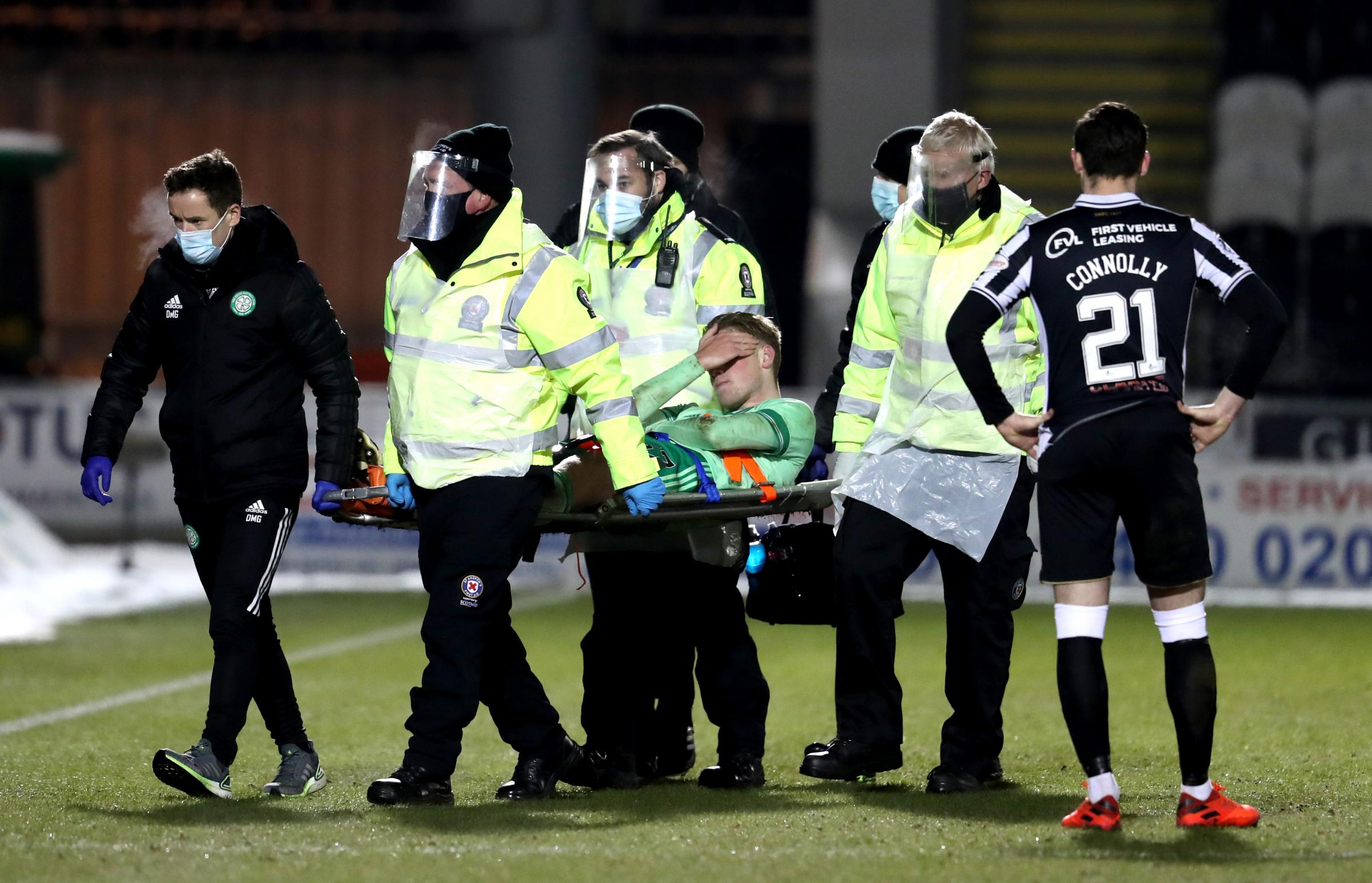 Neil Lennon provides Stephen Welsh injury update after the Celtic centre half is stretchered off in St Mirren win