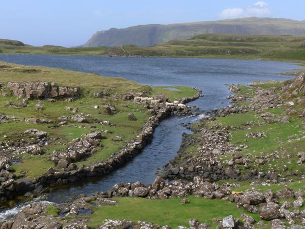 HeraldScotland: The Viking ship canal at Rubh' an Dunain on Skye in Grand Tours of Scotland's Lochs. Picture: Neil McLennan/Tern TV/BBC
