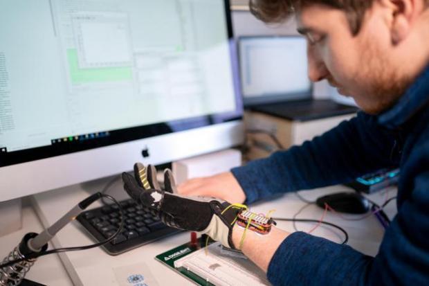 HeraldScotland: BioLiberty co-founder Rowan Armstrong tests new glove