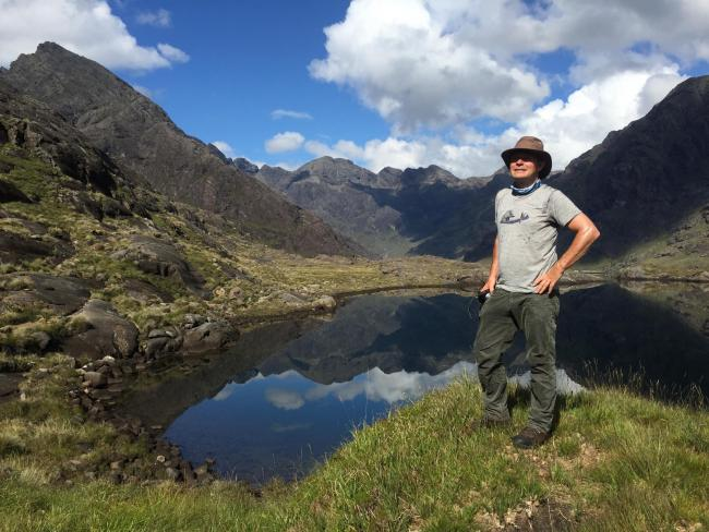 Paul Murton at Loch Coruisk on Skye during filming for Grand Tours of Scotland's Lochs. Picture: Malcolm Airey/Gadabout/BBC