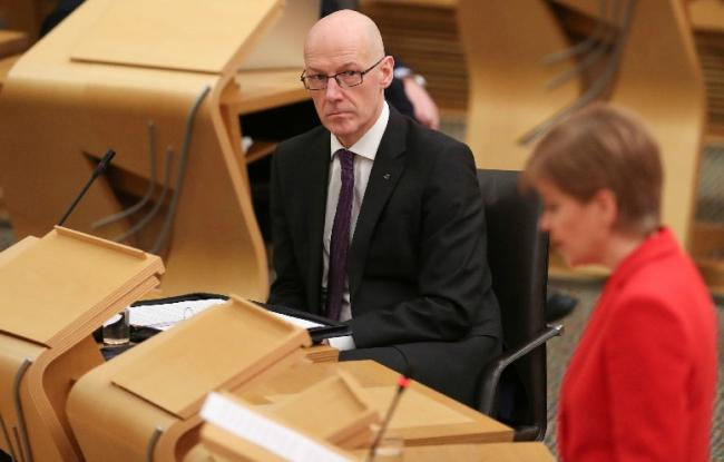 John Swinney suffered a defeat at Holyrood following Wednesday's education debate.