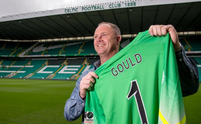 Former Celtic keeper Jonathan Gould at Parkhead.