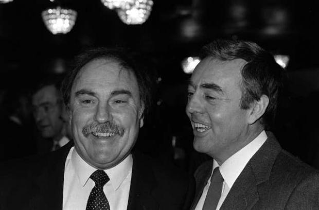 HeraldScotland: St John, right, linked up with Jimmy Greaves to form a memorable TV partnership after his playing career ended (PA)
