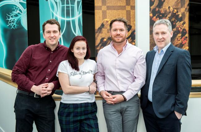 ClinSpec co-founders David Palmer (left), Holly Butler, Matthew Baker and Mark Hegarty
