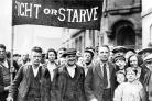 Todd yearns  for a resurgence of trade unionism and collective endeavour as demonstrated by these hunger marchers arriving in Glasgow in the 1930s