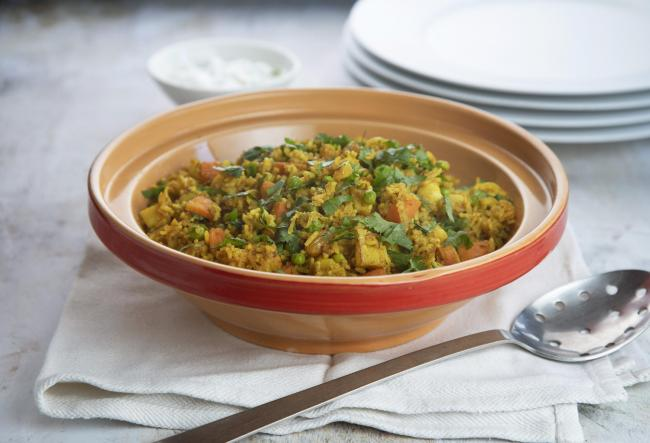 Recipe: Vegetable biryani, simple but with a hint of something more exotic