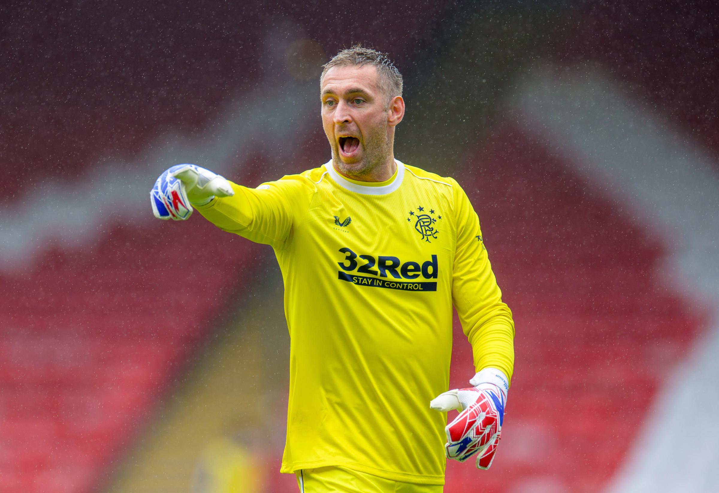 Happy days! Allan McGregor on the last-gasp wonder save that earned Rangers a draw against Slavia Prague
