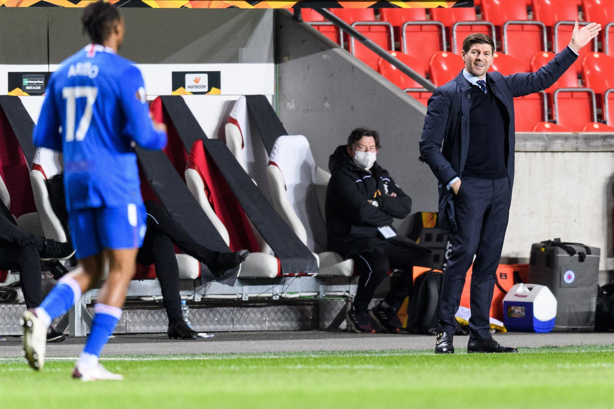 Rangers boss Steven Gerrard provides injury update after Slavia Prague win
