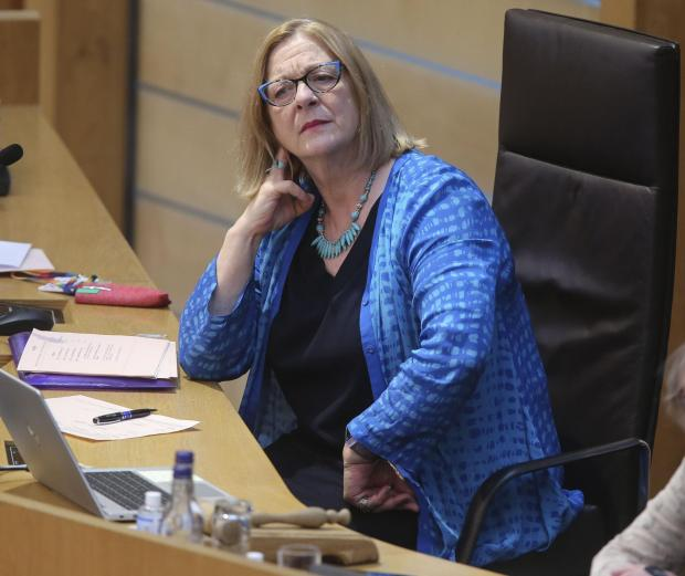 HeraldScotland: Linda Fabiani MSP Deputy Presiding Officer at the Scottish Parliament at Holyrood, Edinburgh..