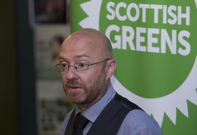 Scottish Greens co-leader Patrick Harvie