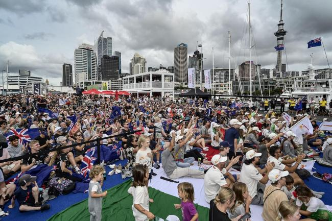 A large crowd watching America's Cup sailing in Auckland, New Zealand, recently. The country has been widely praised for its pandemic response
