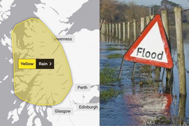 Scotland's weather: rain and high winds prompt flood warning